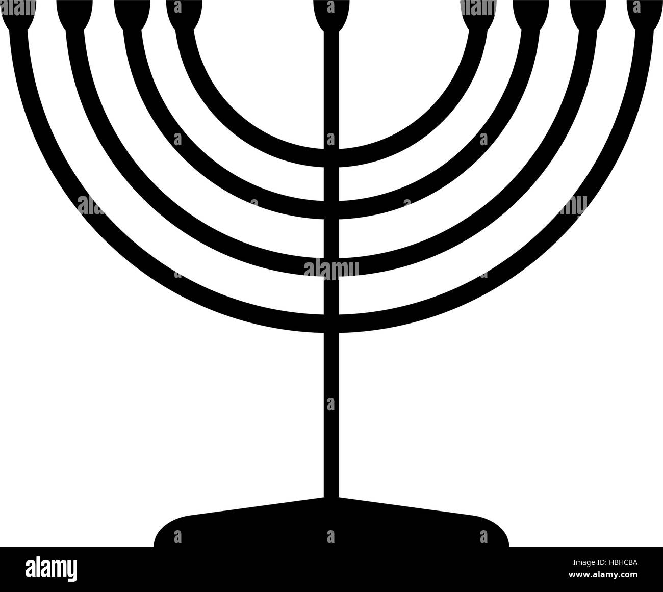 Menorah symbol of Judaism. Illustration isolated on white background. - Stock Vector