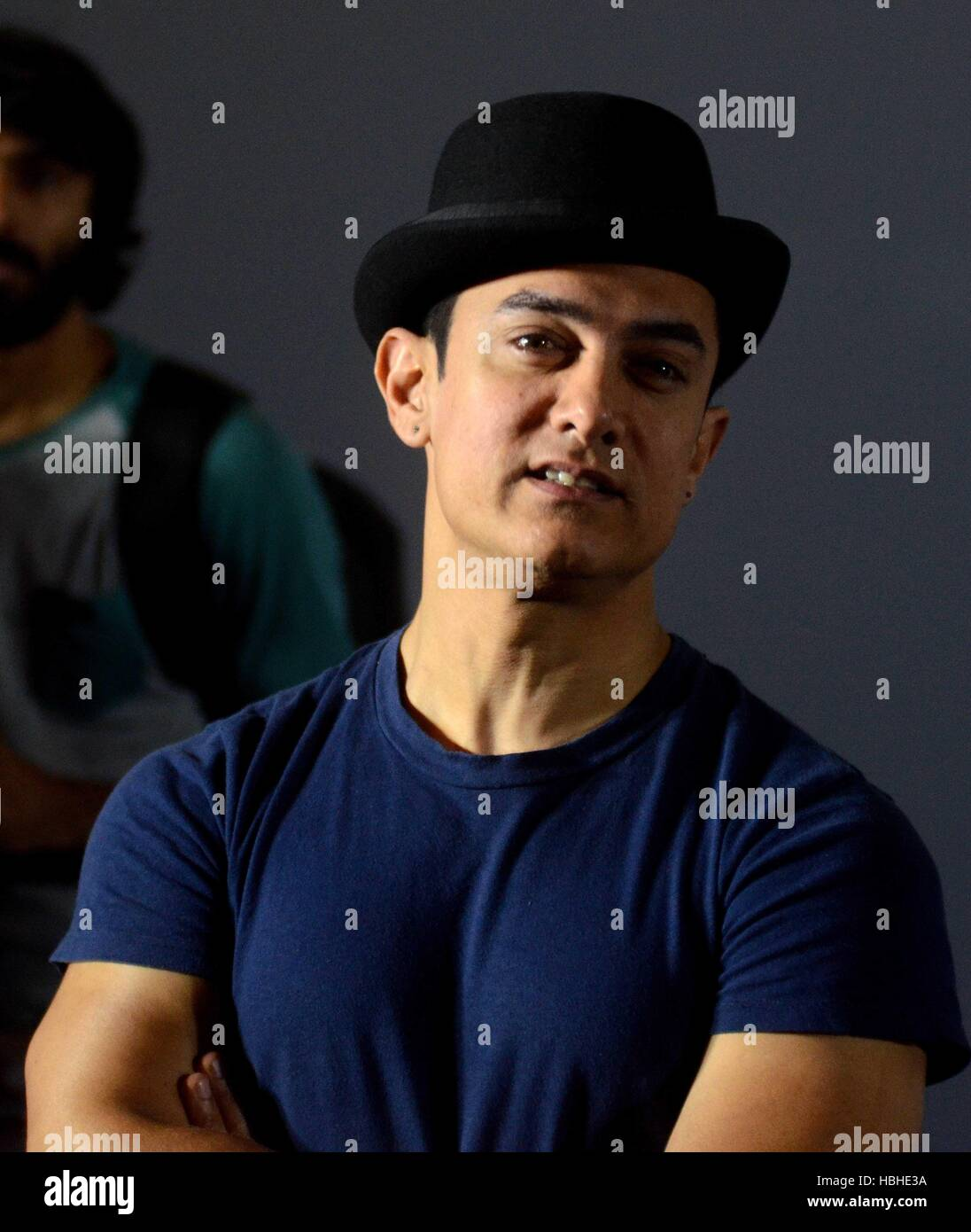 Bollywood actor Aamir Khan, visited the Godrej group campus to promote the campaign Ideas that make life brighter Stock Photo