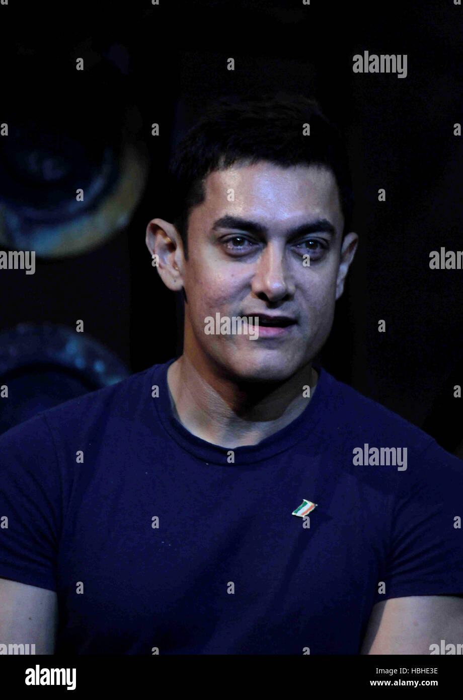 bollywood actor aamir khan during the launch of the dhoom 3 title