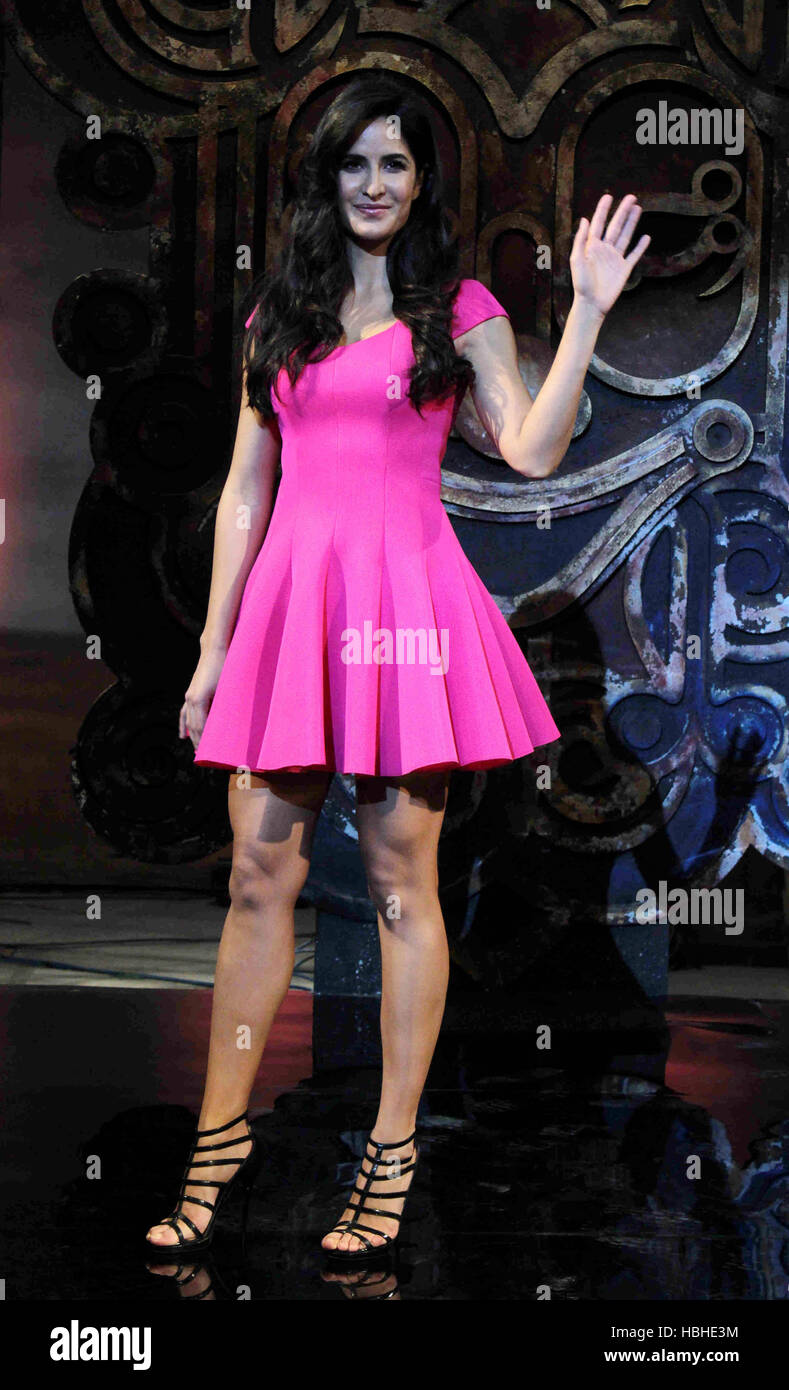 Katrina Kaif bollywood hindi film actress during the launch of the Dhoom 3 title song Dhoom Machale Dhoom in Mumbai - Stock Image