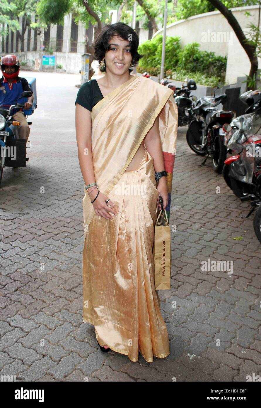 Bollywood actor Aamir Khan daughter Ira Khan during the Eid-al-Fitr celebration, in Mumbai, India on July 18, 2015. - Stock Image