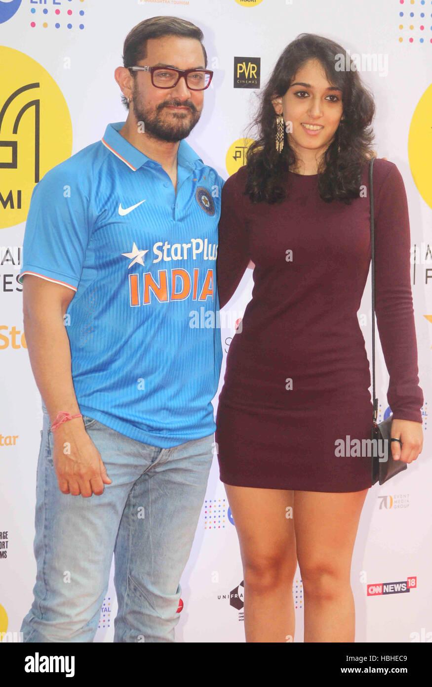 Bollywood actor Aamir Khan Ira Khan Rewind with Jo Jeeta Wohi Sikandar during the Jio MAMI 18th Mumbai Film Festival - Stock Image