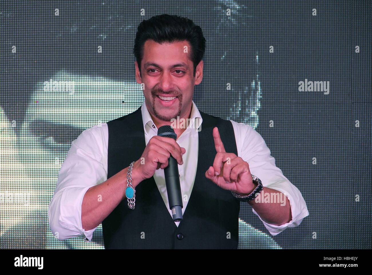 Bollywood actor Salman Khan during the launch of singer Armaan Malik debut music album in Mumbai India - - Stock Image