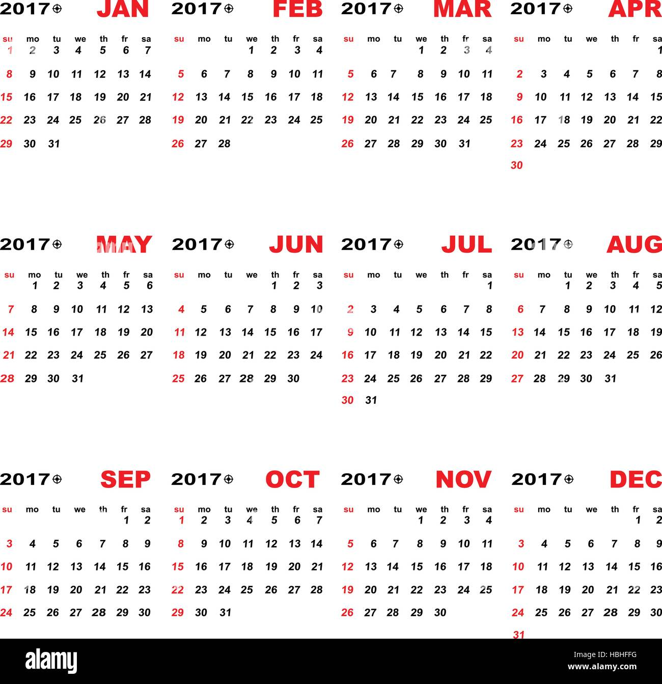 2017 calendar template for business plan stock vector stock vector 2017 calendar template for business plan stock vector accmission Image collections