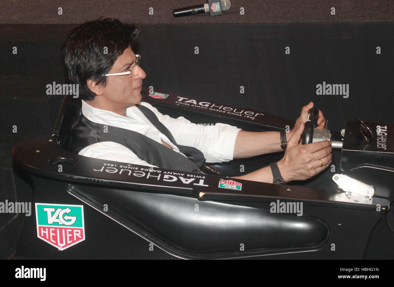Bollywood actor Shah Rukh Khan during the launch of TAG Heuer 'Monaco Grand Prix' Limited Edition Chronograph in - Stock Image