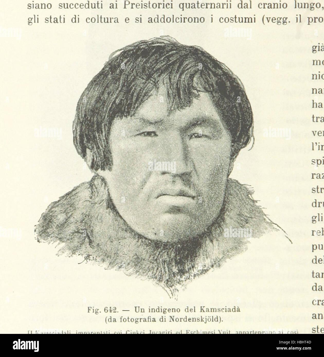 Image taken from page 1302 of 'Antropologia generale. Lezioni su l'uomo secondo la teoria dell'evoluzione - Stock Image