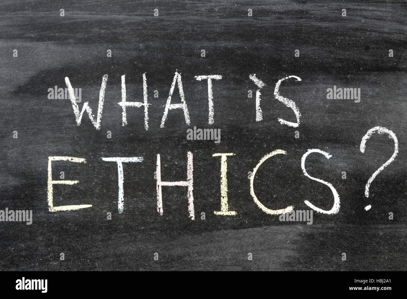 what is ethics - Stock Image