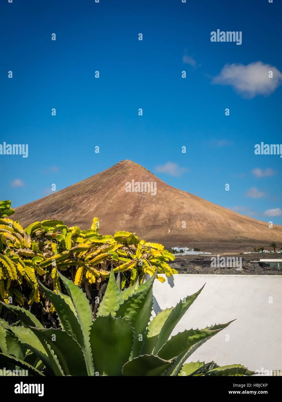 Volcanoe in central Lanzarote Stock Photo