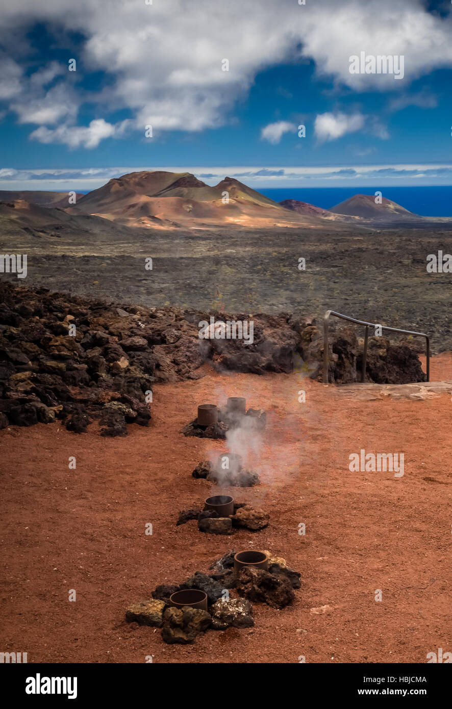 Hot water and steam vents - Stock Image