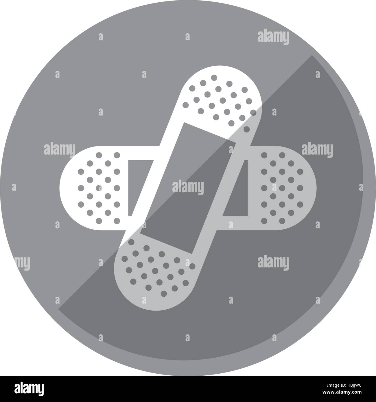 crossed bandages icon image vector illustration design Stock Vector