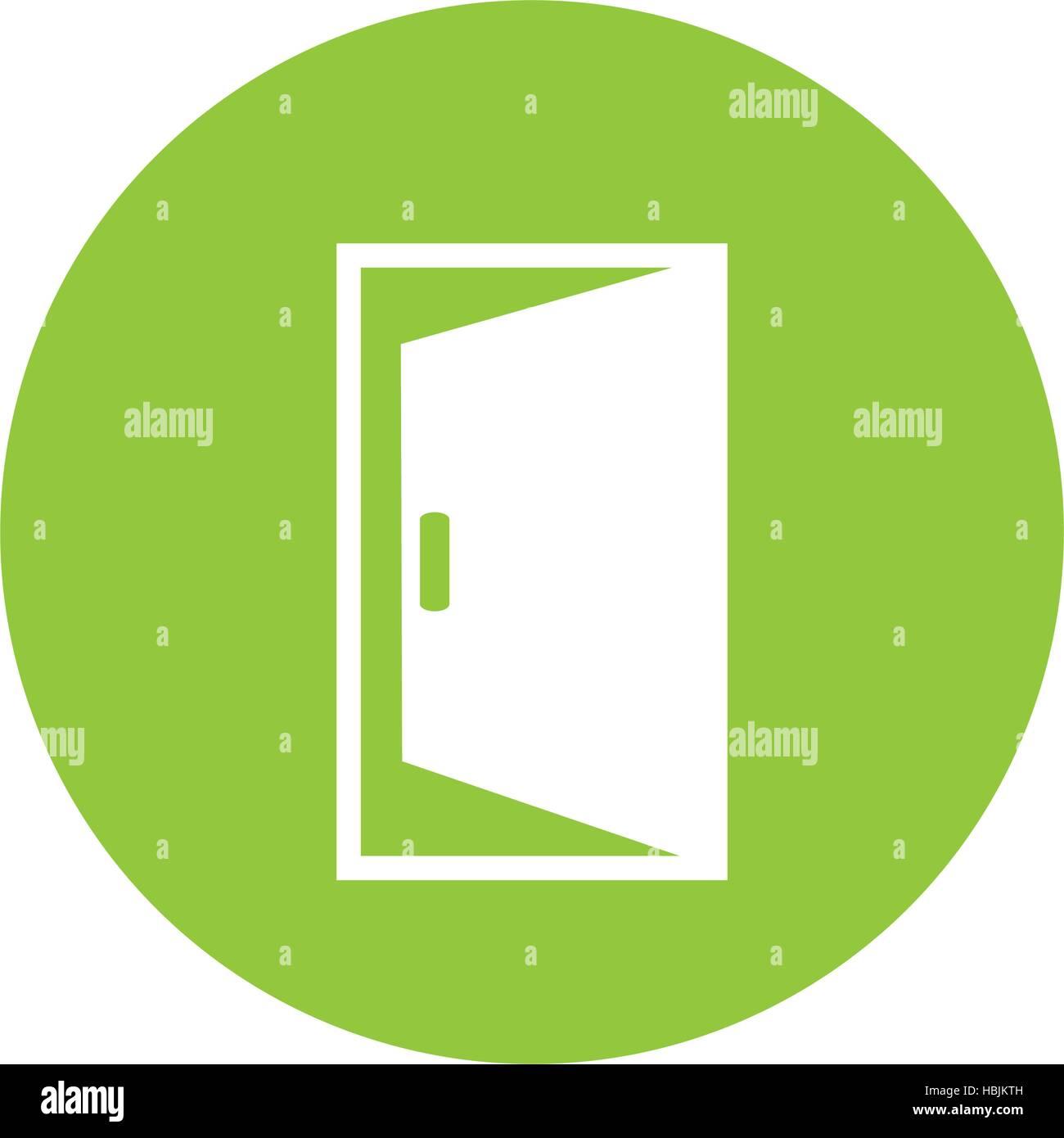 open door icon image stock vector art amp illustration