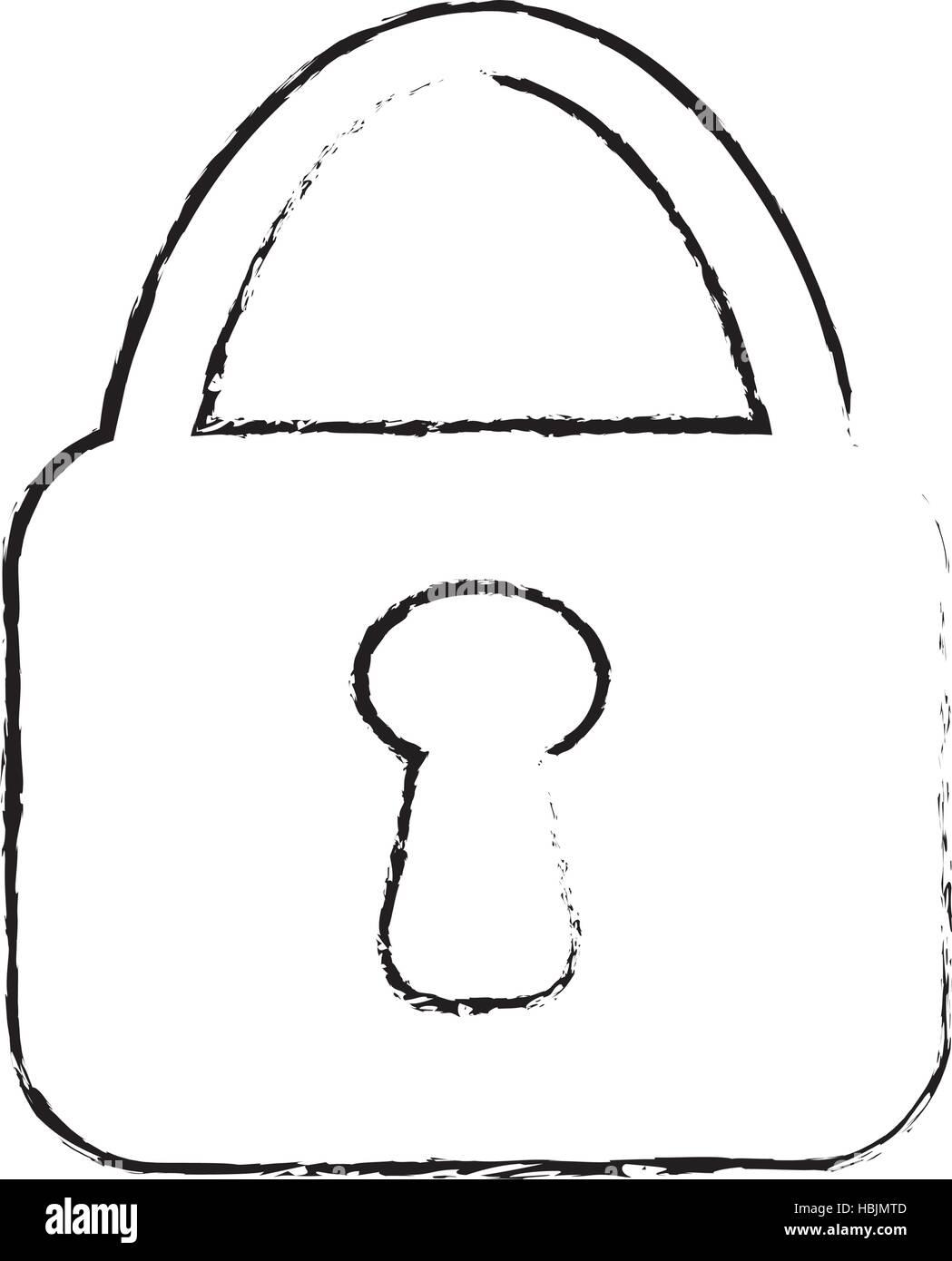 safety lock icon image - Stock Image