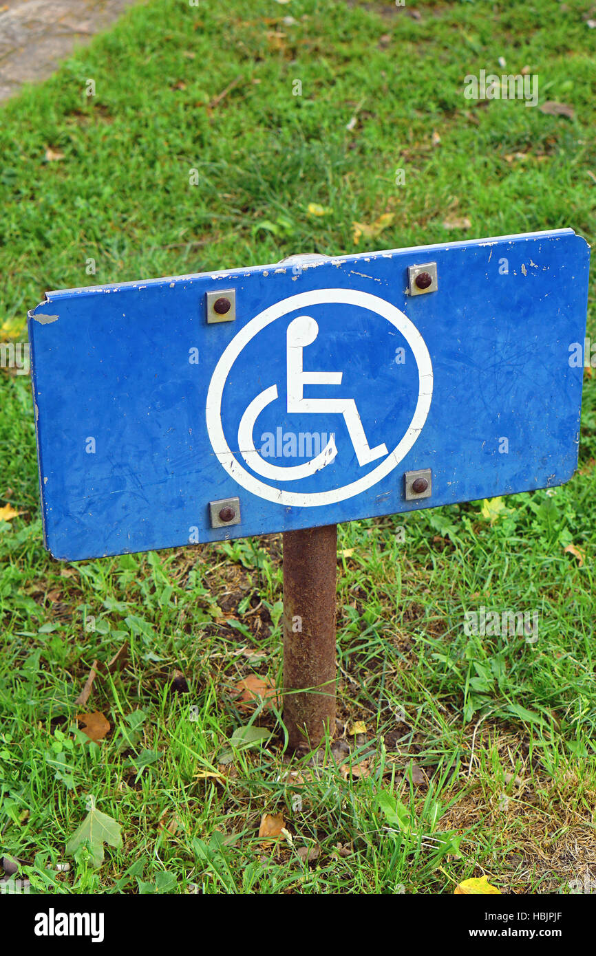 Disabled sign - Stock Image