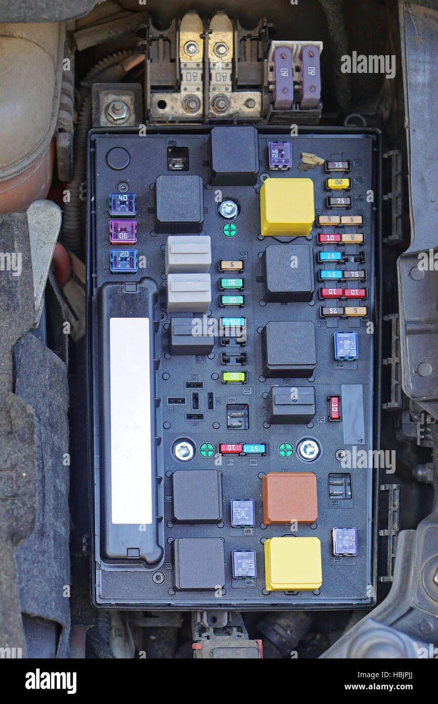 Fuse Box Stock Photos Images Alamy Car India Image