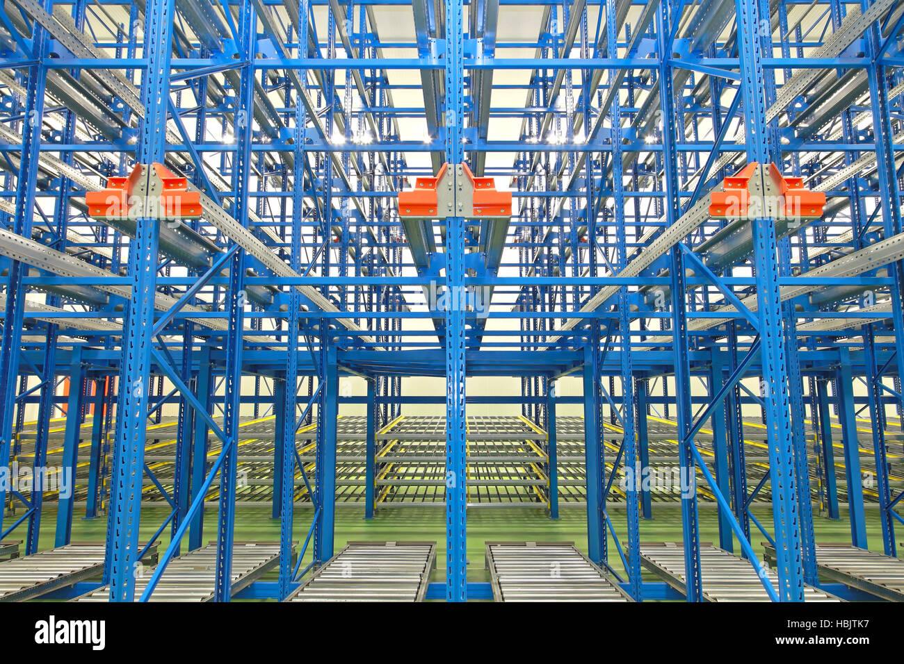 Gravity Storage Shelves - Stock Image