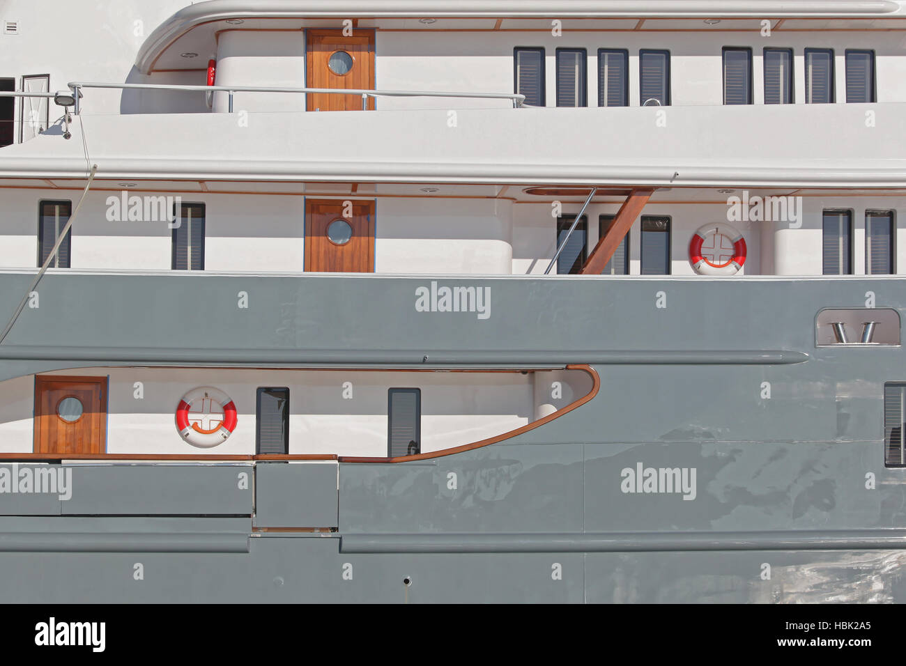 Ship Side - Stock Image