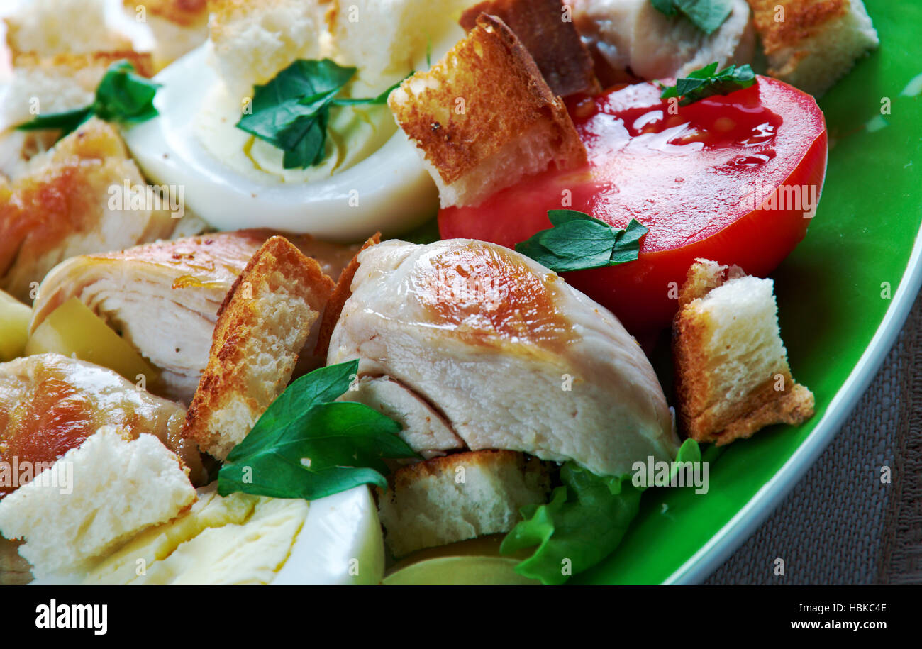 chicken ensalada cezar Stock Photo