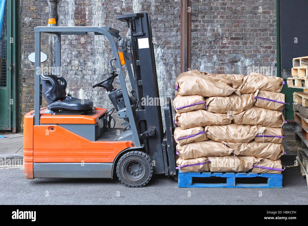 Forklift Sacks - Stock Image