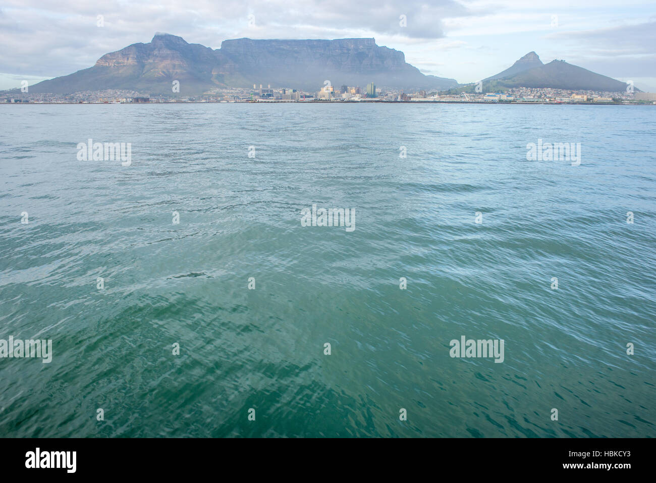Table Mountain from the Ocean - Stock Image