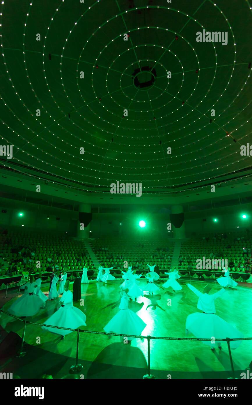 Dancing dervishes in Konya - Stock Image
