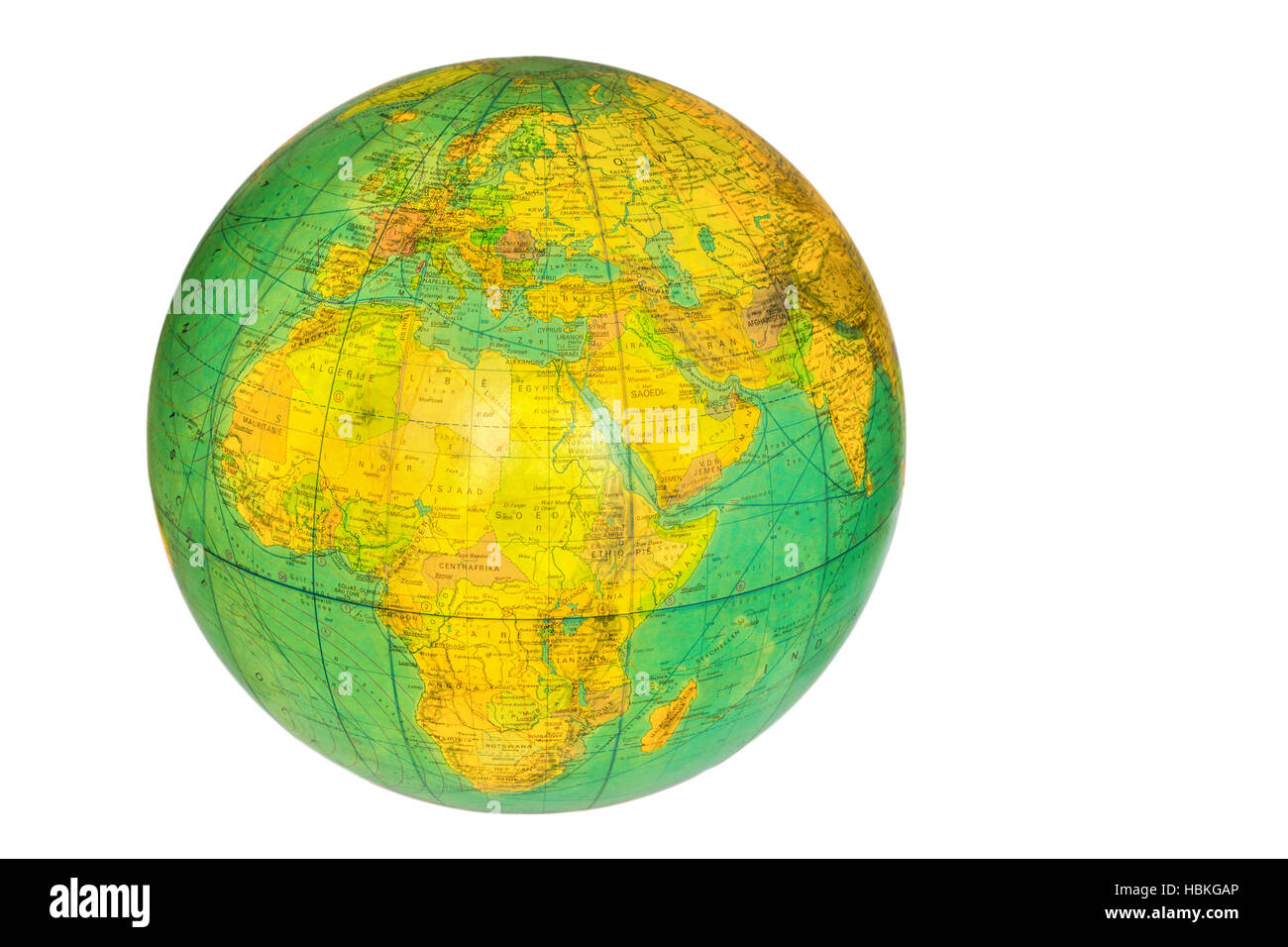 Globe With Planet Earth Isolated On White   Stock Image