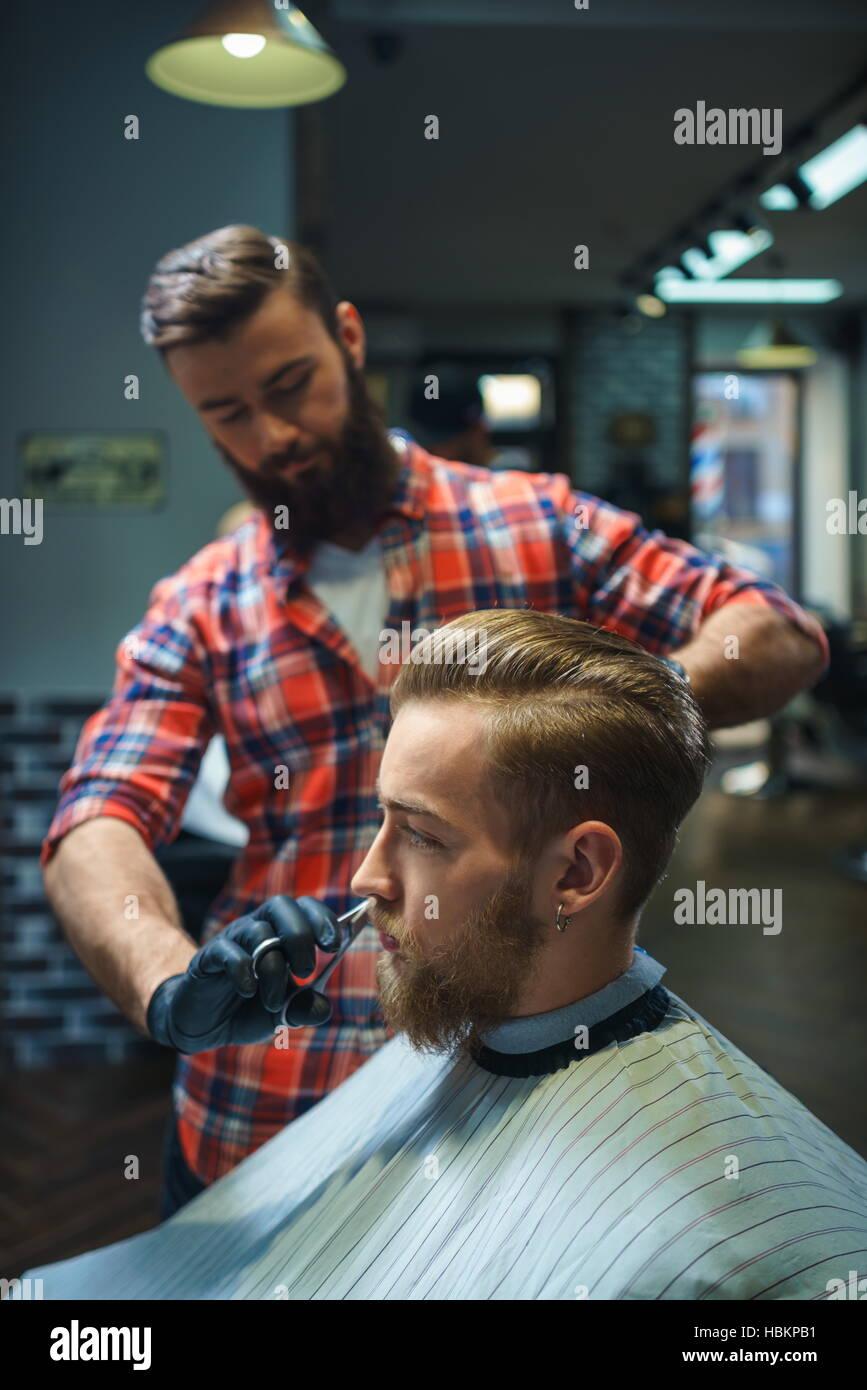 Men's beauty - Stock Image