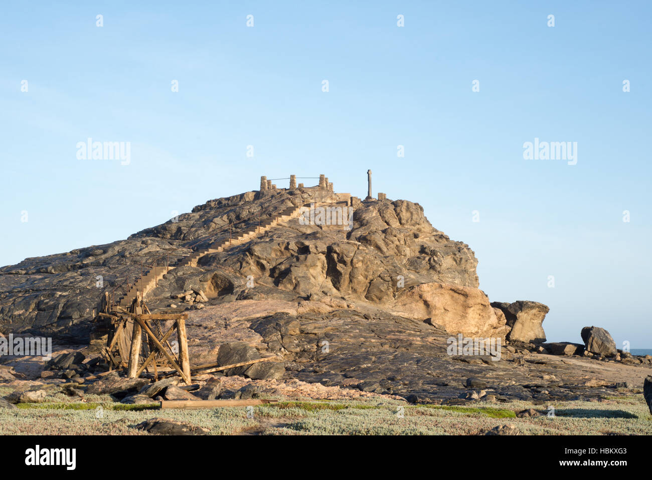 Dias Cross on top of hill - Stock Image