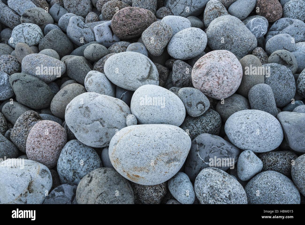 Pebbels, world heritage Hoega Kusten, Sweden - Stock Image