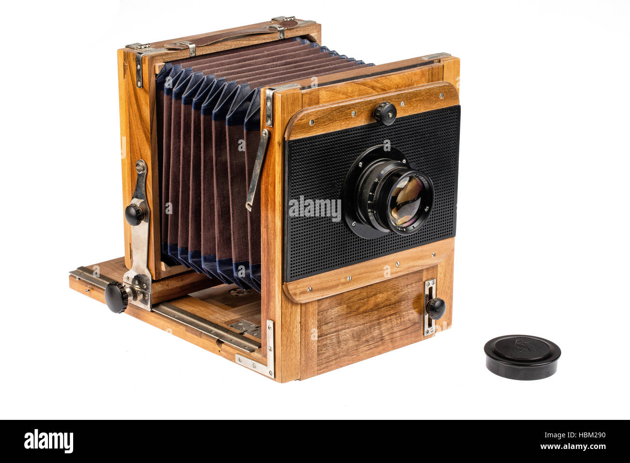 Old Wooden Photocamera - Stock Image