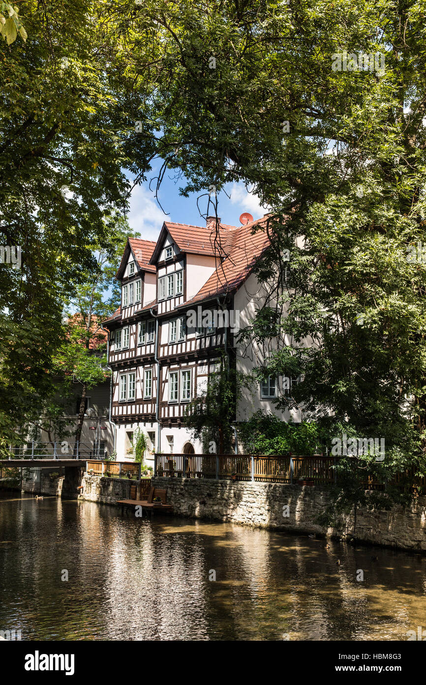 Fachwerk house in Erfurt - Stock Image