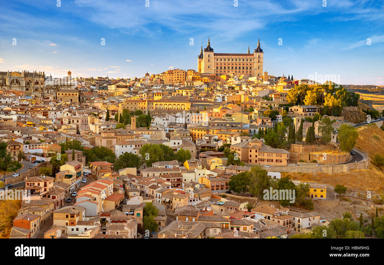 Alcazar of Toledo, Spain - Stock Image