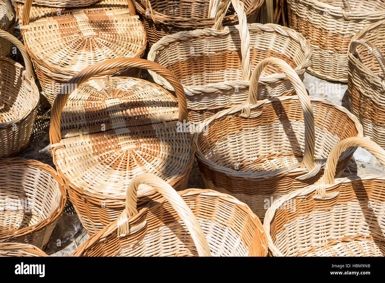 Wicker Baskets Crafts Shop Stock Photos & Wicker Baskets Crafts Shop ...
