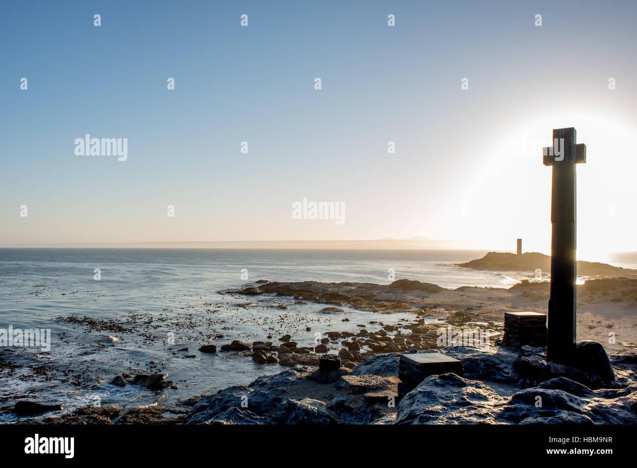 Dias' Cross by the Atlantic Ocean - Stock Image