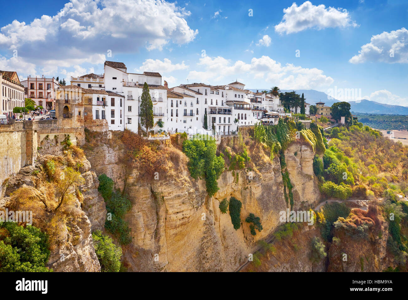 El Tajo Gorge Canyon, Ronda, Andalusia, Spain - Stock Image
