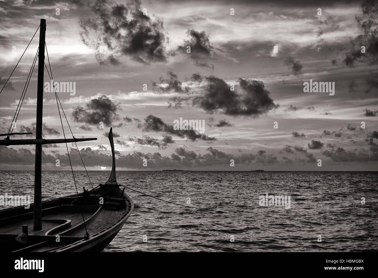 Maldivian Sunset Stock Photo