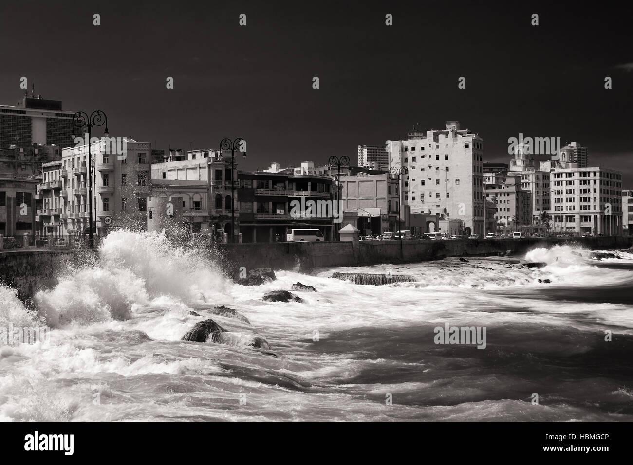 the Malecon in Havana, Cuba Stock Photo