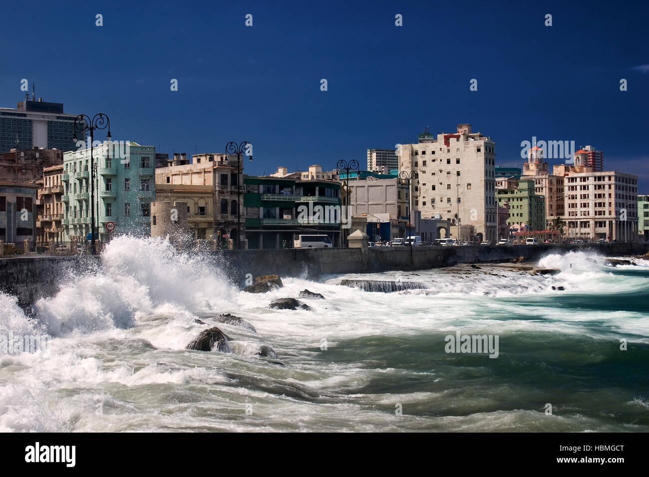 El Malecón, Cuba Stock Photo