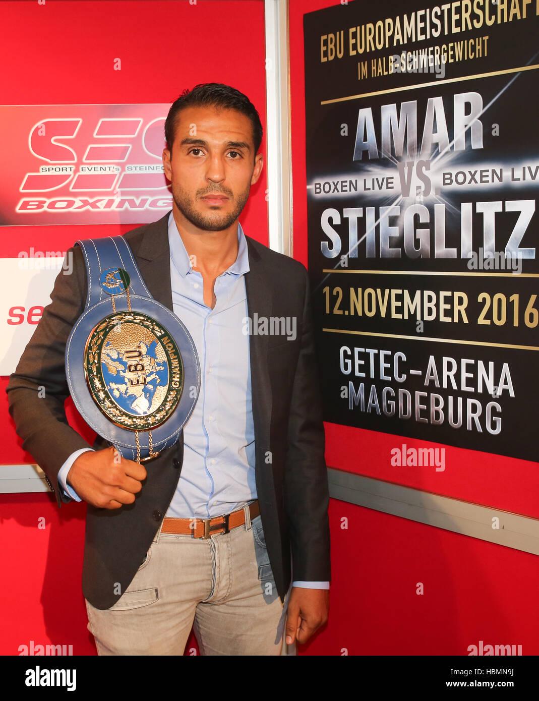EBU Heavyweight boxer Mehdi Amar - Stock Image