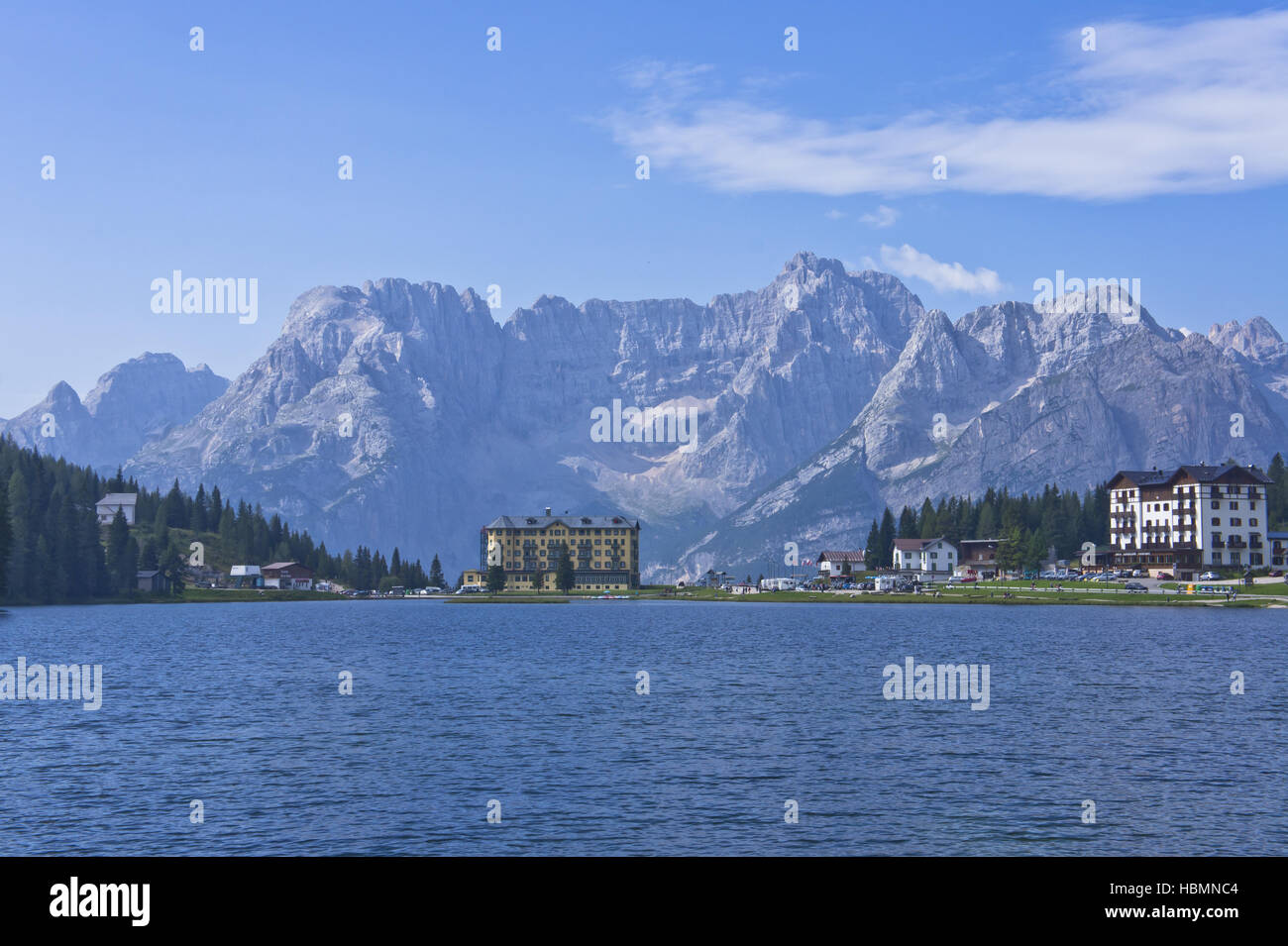 Alps, Dołomiti, Italy, Lake Misurina - Stock Image