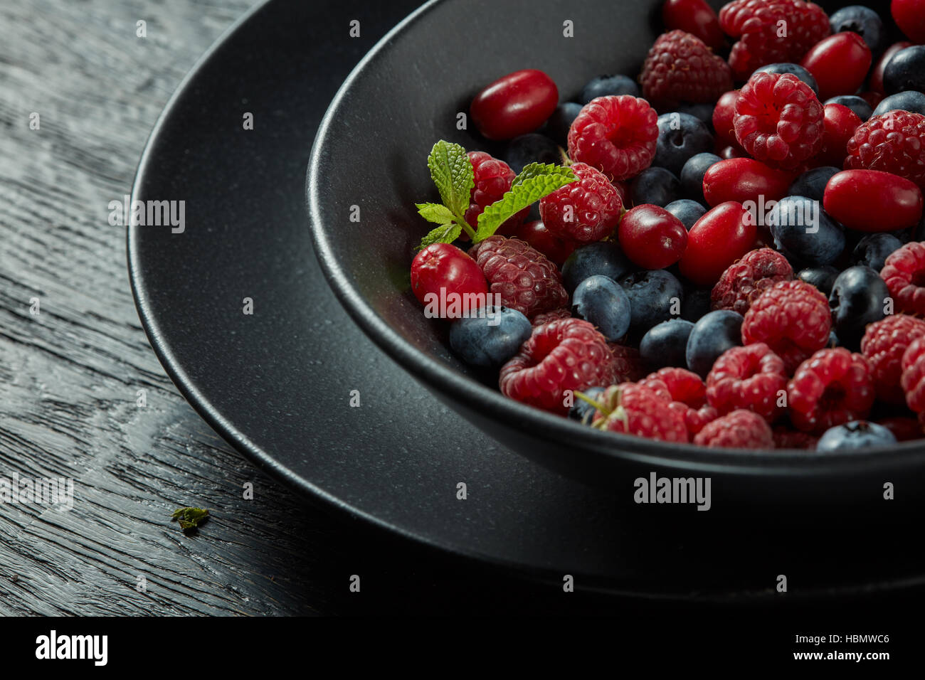 fresh healthy berries - Stock Image