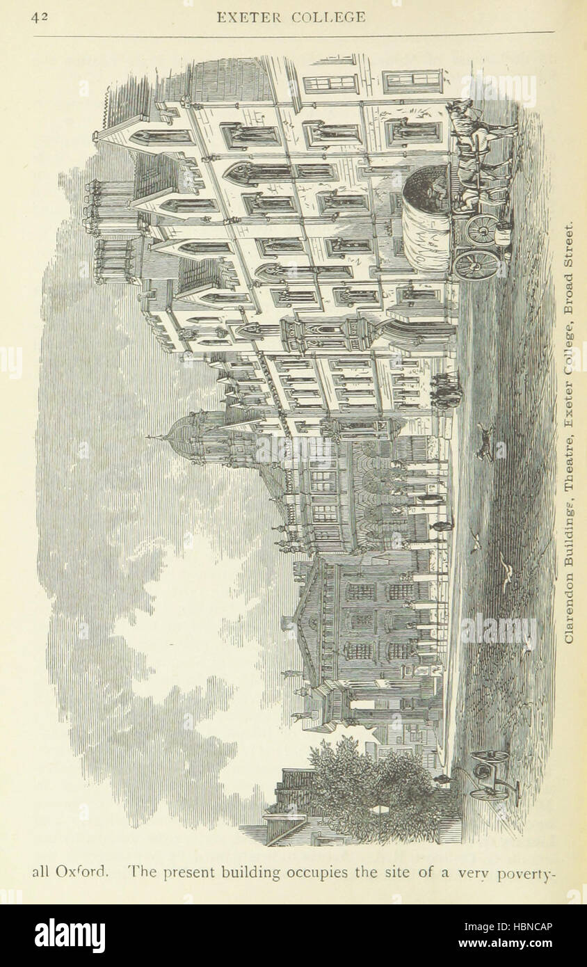 Image taken from page 54 of 'The Pictorial and Historical Gossiping Guide to Oxford ... Sixth edition, revised, Stock Photo