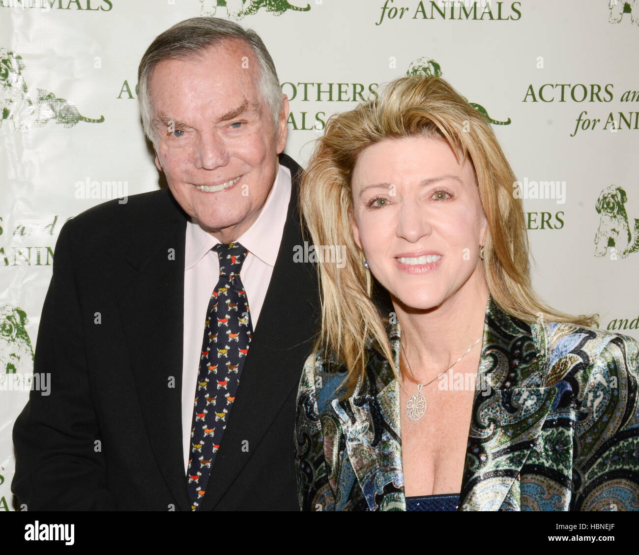 Peter Marshall and Laurie Marshall arrives at the Actors And Others For Animals' Joy To The Animals Luncheon - Stock Image