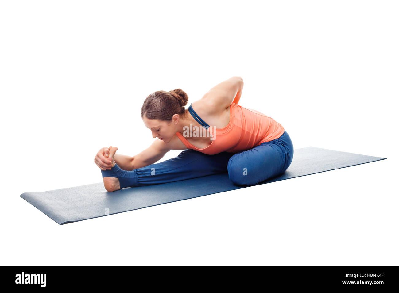 Woman Doing Ashtanga Vinyasa Yoga Asana Stock Photo 127709807 Alamy