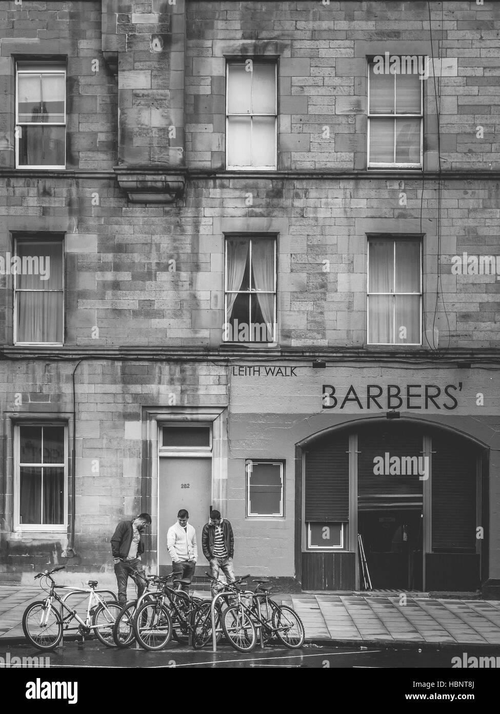 Edinburgh street scene - Stock Image