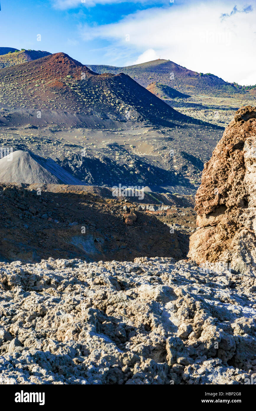 Photo of the volcanic landscape at Fuencaliente in La Palma, canaries. - Stock Image