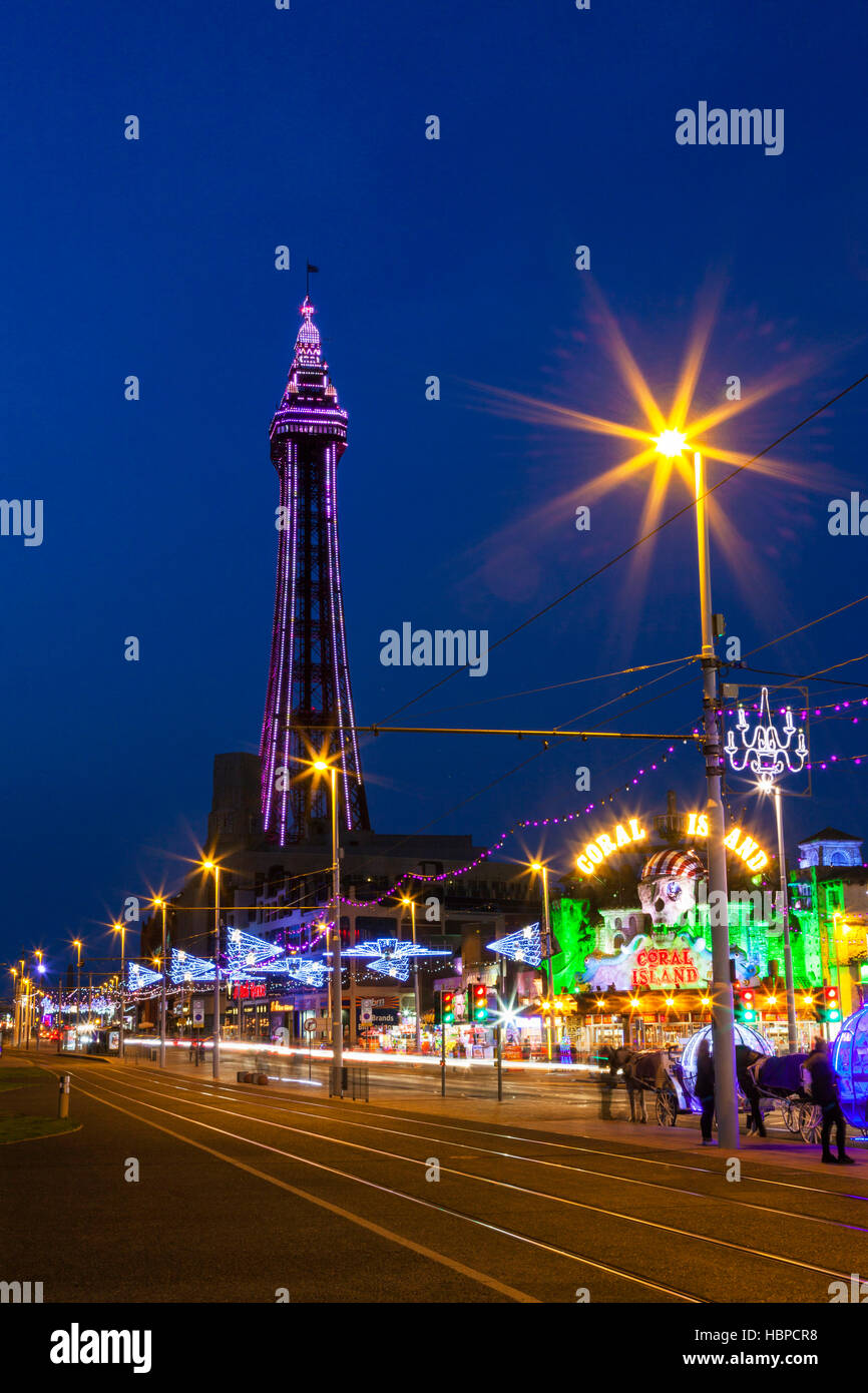 Blackpool Tower, Lancashire, England, U.K. - Stock Image