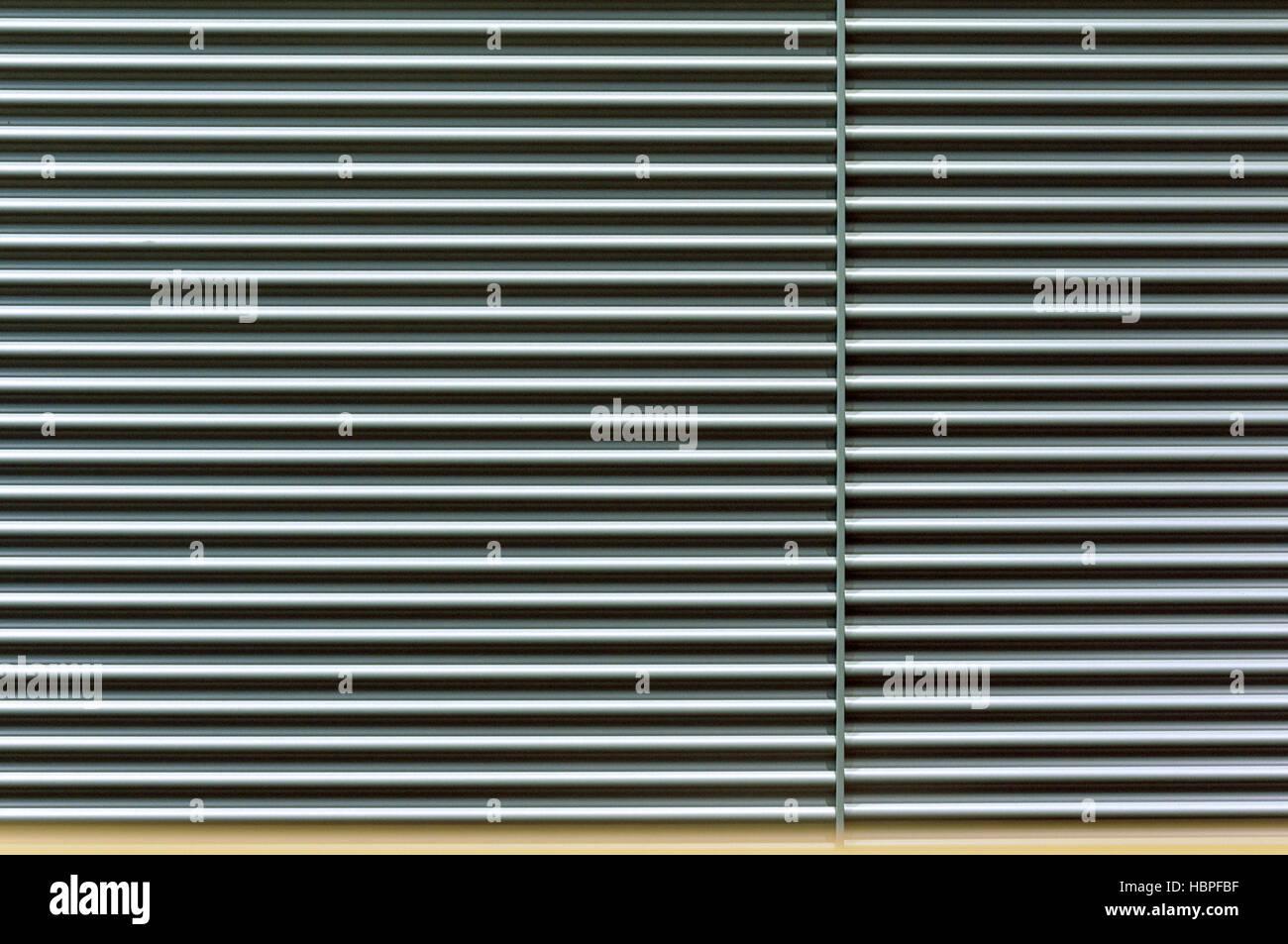 metallic roll curtain - Stock Image
