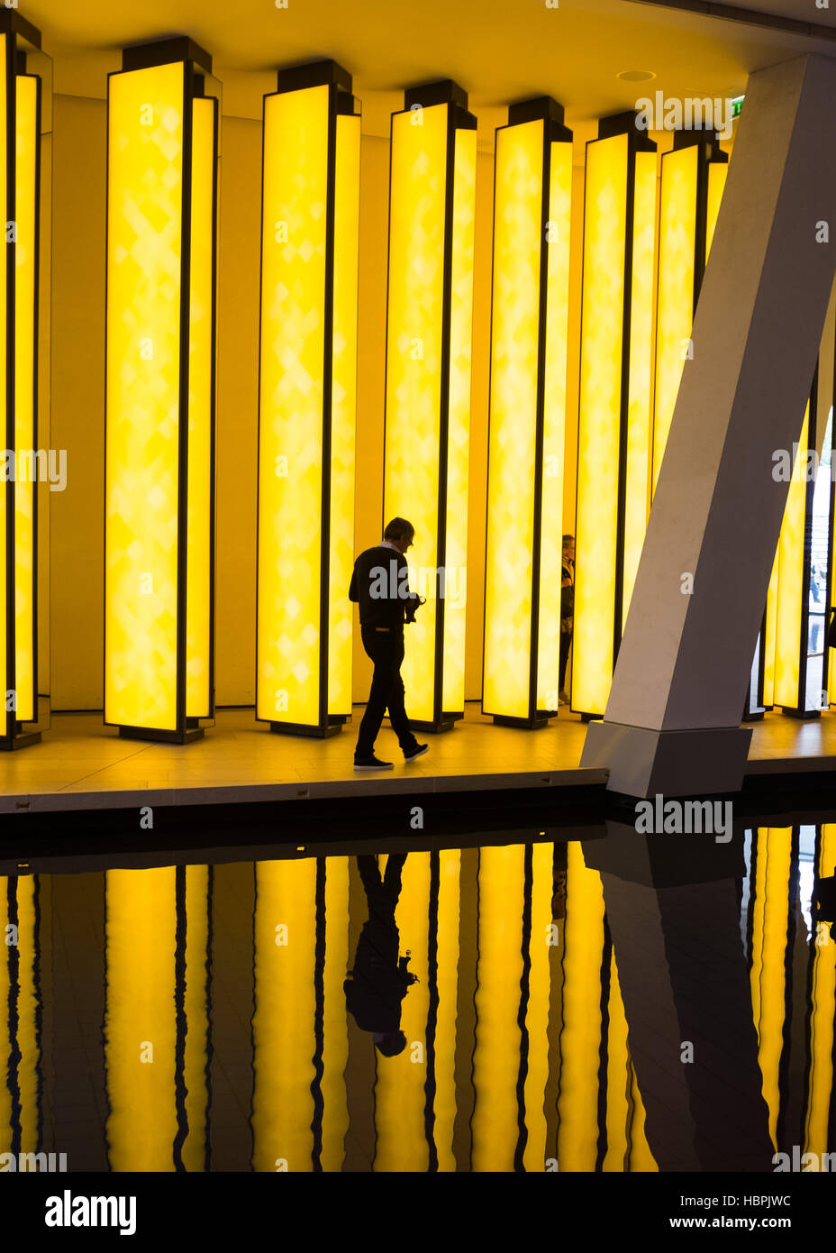 "Olafur Eliasson, artwork ""Inside the Horizon"" at Louis Vuitton Foundation, Louis Vuitton Fondation,Paris,France. Stock Photo"