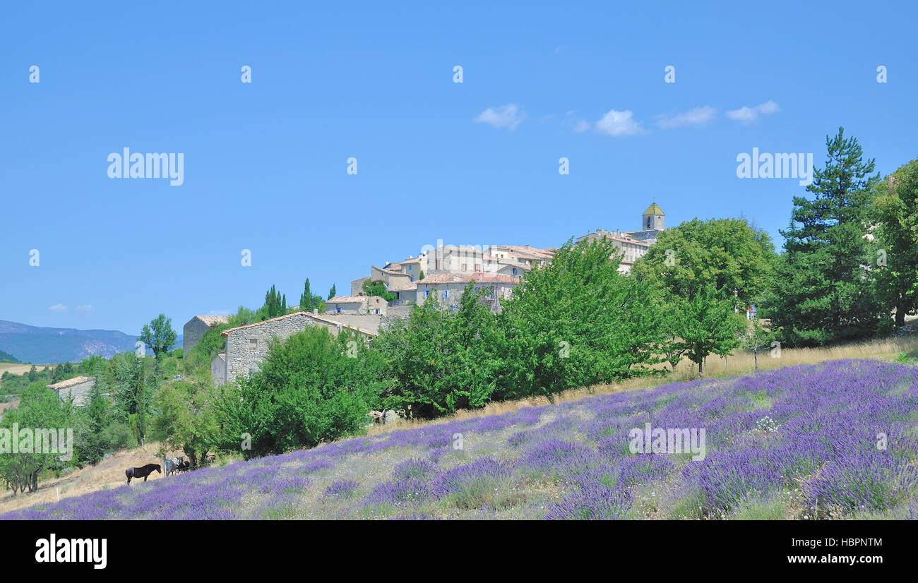 idyllic Village in Provence,South of France - Stock Image