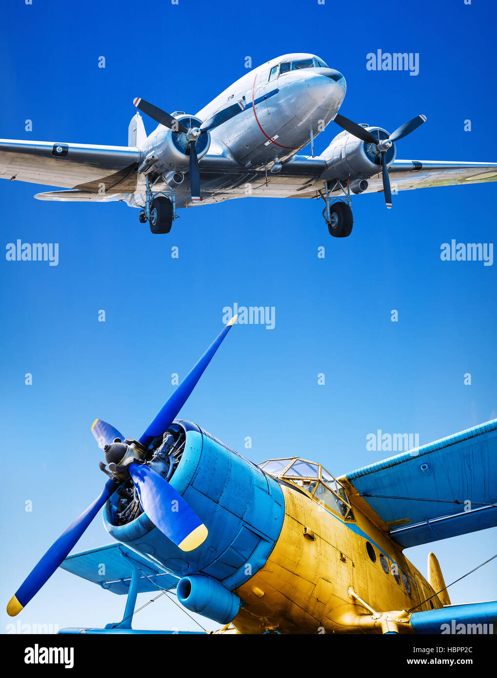 old airplanes - Stock Image